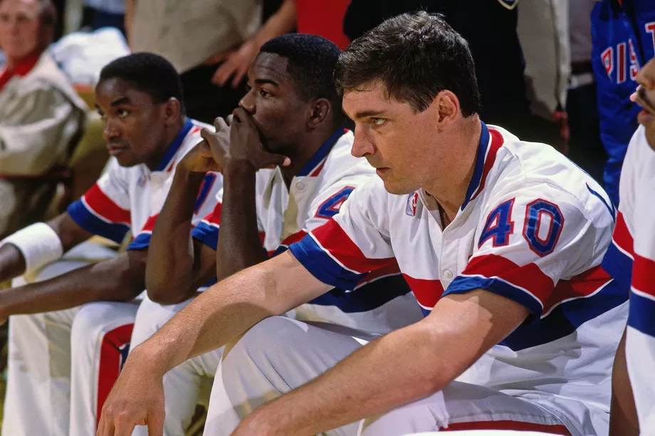 Bill Laimbeer, Joe Dumars and Isiah Thomas