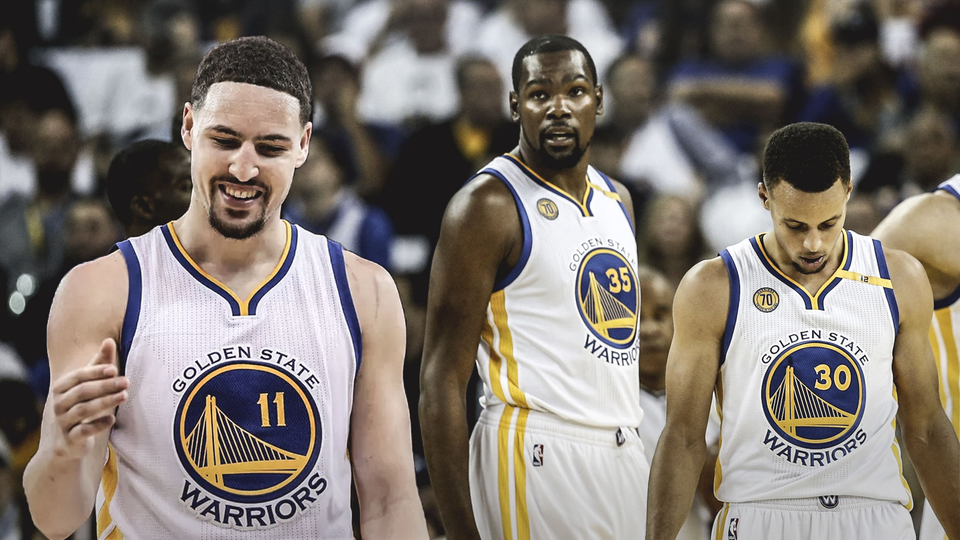 Stephen Curry, Kevin Durant, Klay Thompson