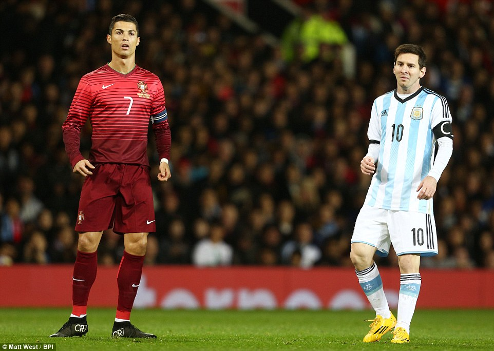 10 superstars played both Ronaldo and Messi