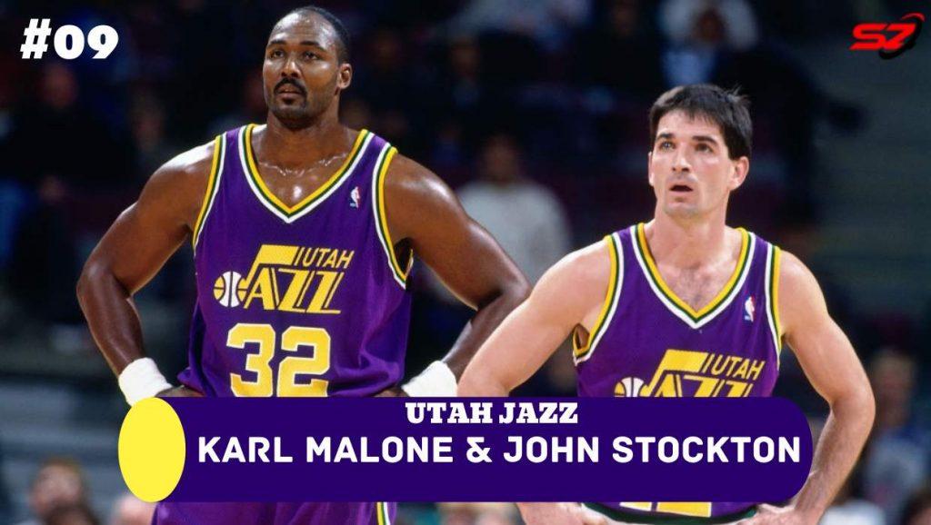 famous dynamic duos Karl Malone & John Stockton