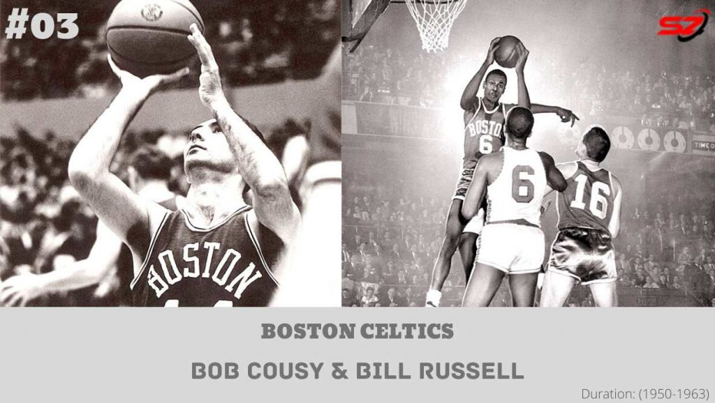 most iconic duos Bob Cousy and Bill Russell