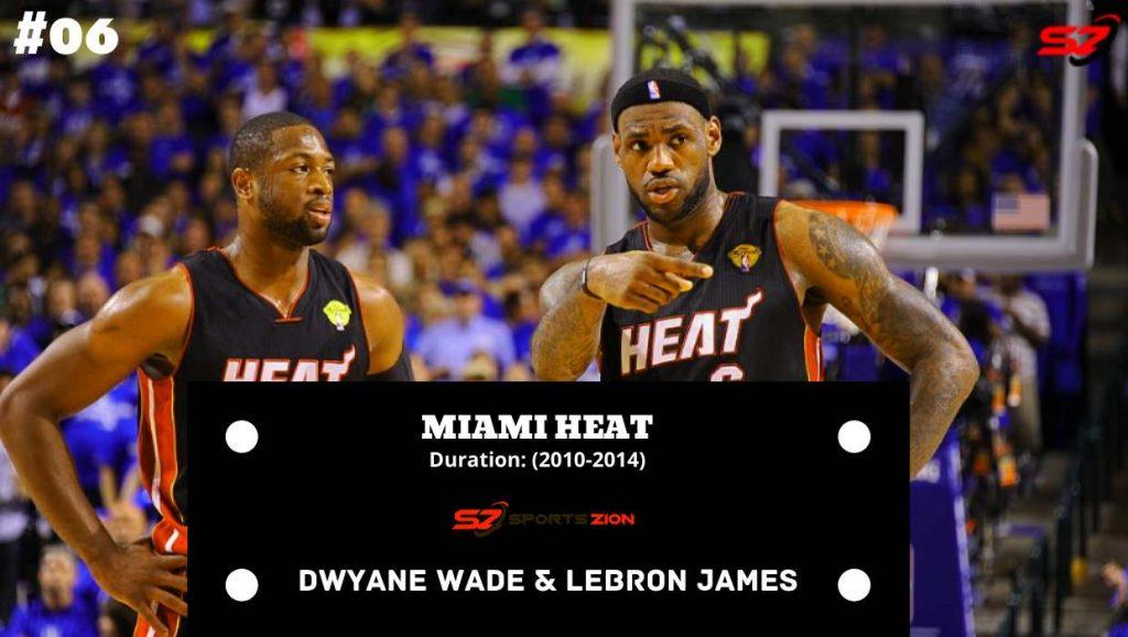 top duos LeBron James and Dwyane Wade