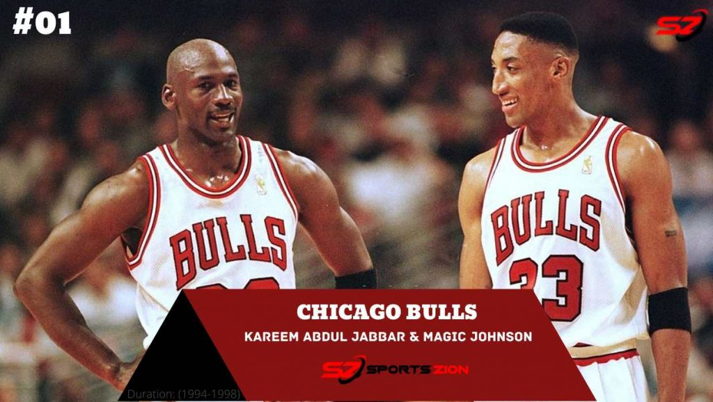 best duos ever Michael Jordan and Scottie Pippen