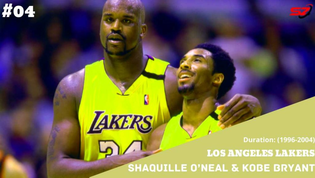 famous duos in history Shaquille O'Neal and Kobe Bryant