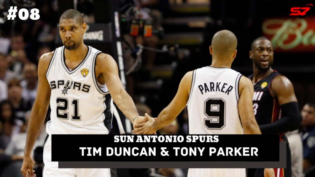 best nba duos Tim Duncan and Tony Parker