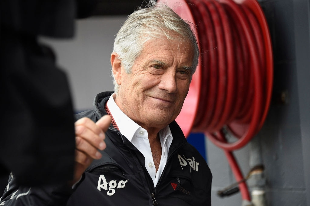 Italian ambassador to MotoGP Giacomo Agostini