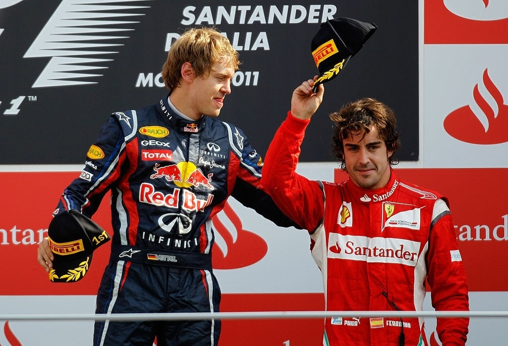 F1 title rivalries of all-Alonso vs Vettel