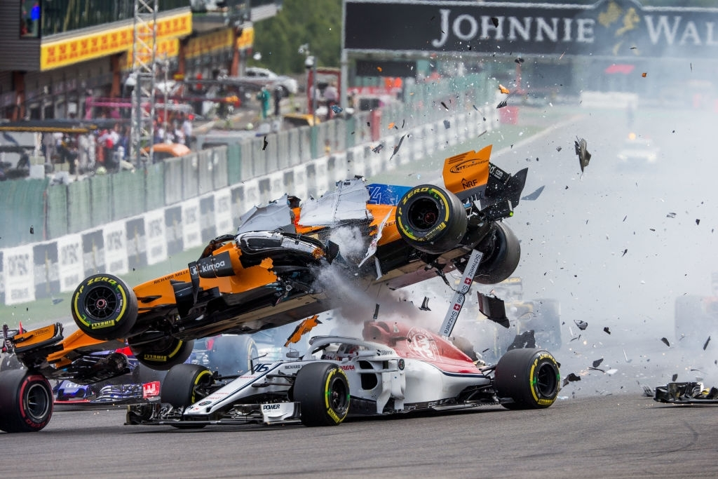 f1 car crash