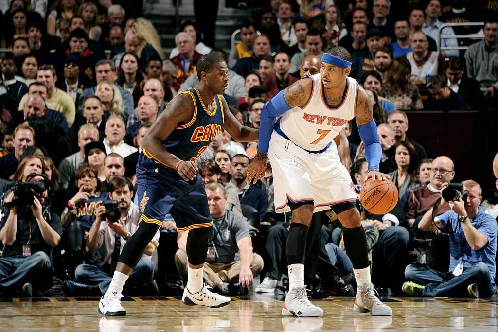 Carmelo Anthony and Dion Waiters