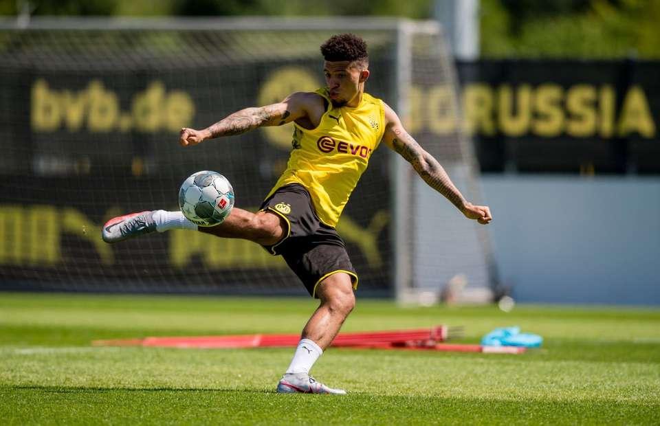 Jaden Sancho in training