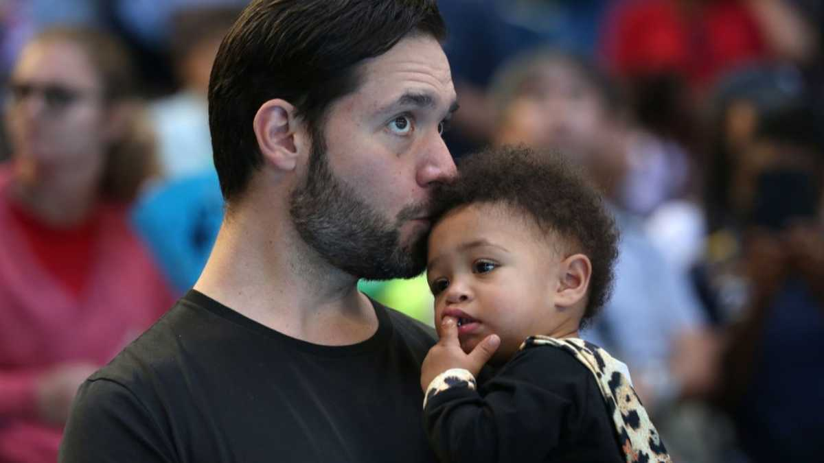 Serena's Husband with his child