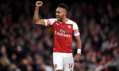 Aubameyang voted as player of year by Arsenal fans