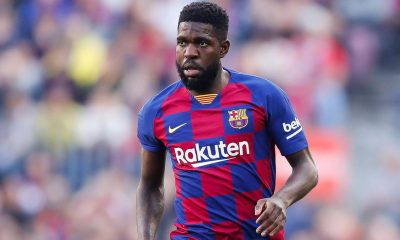 Barcelona defender Samuel Umtiti tests positive for coronavirus