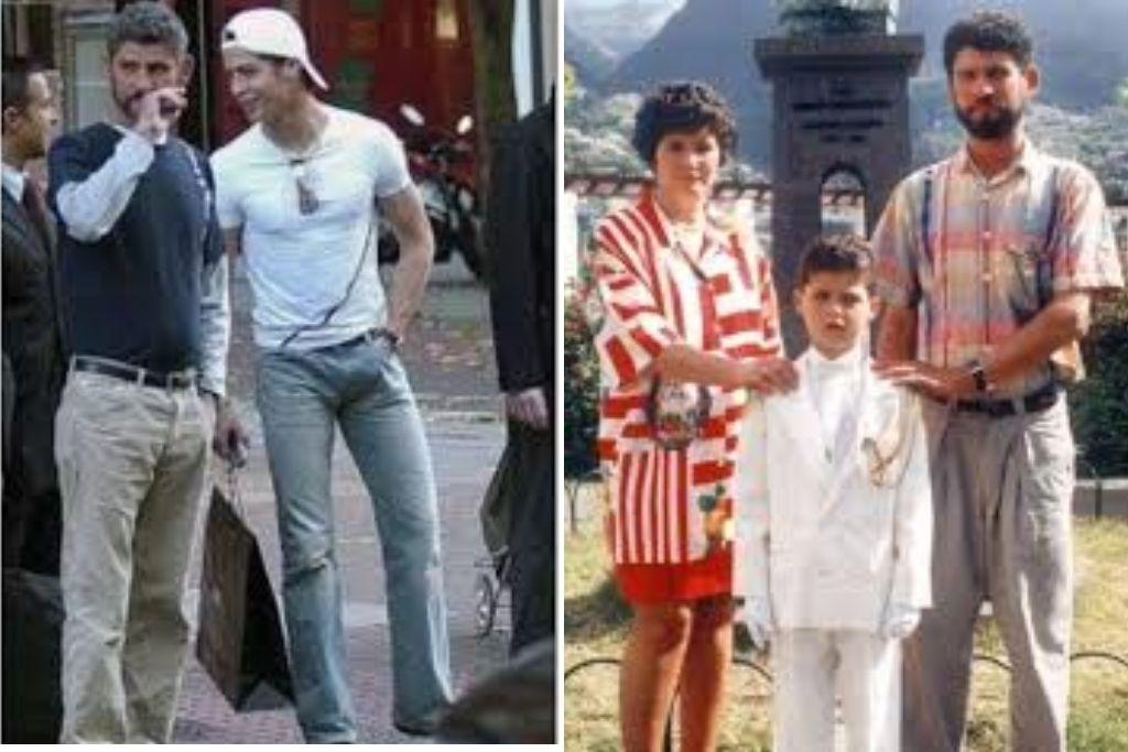 Cristiano Ronaldo image with father and mother