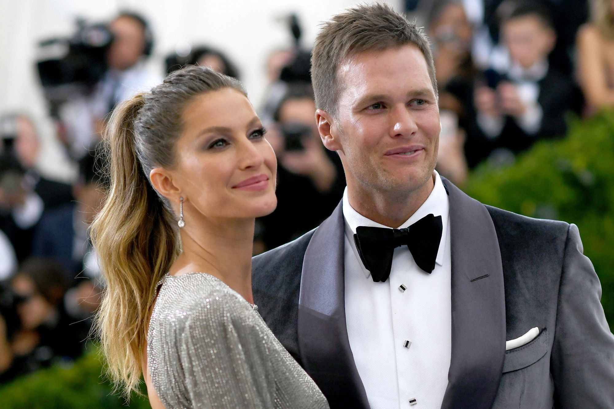 Tom Brady with wife