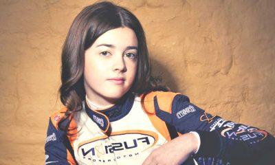 Ella Stevens in F1 Ferrari team