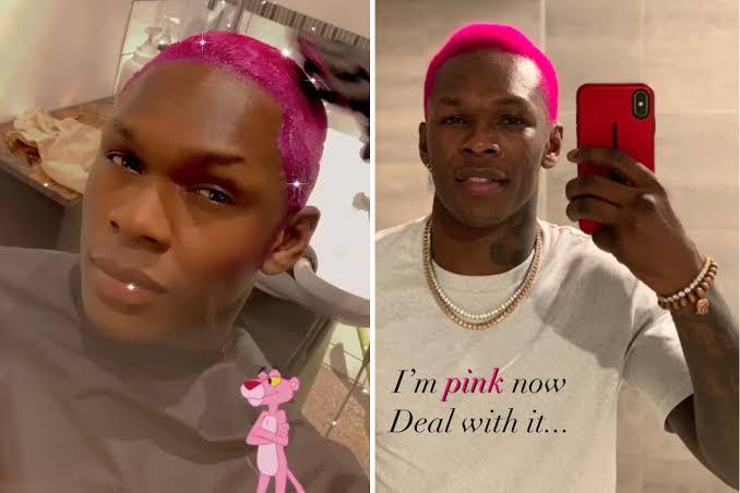 Adesanya pink hair
