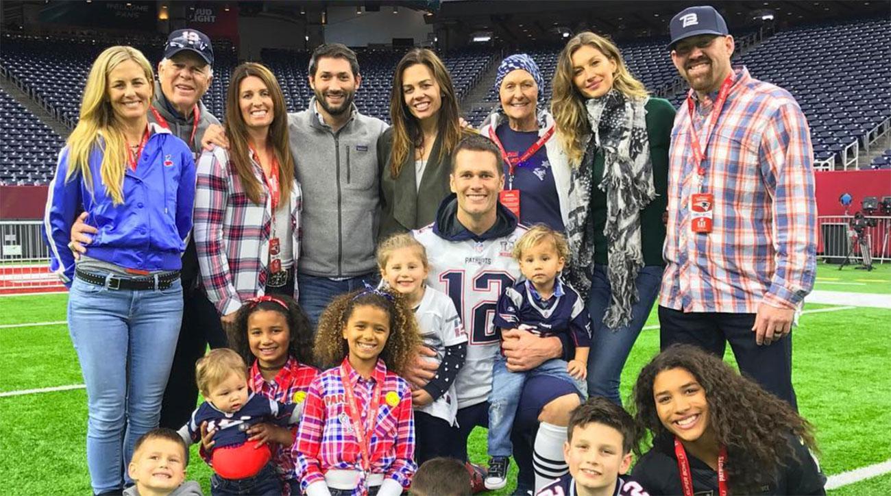Tom Brady and his family