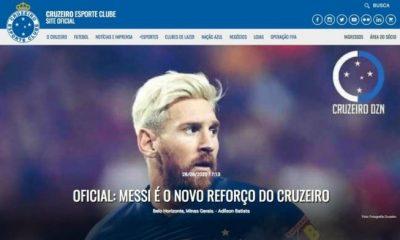 Lionel Messi joins Cruzeiro