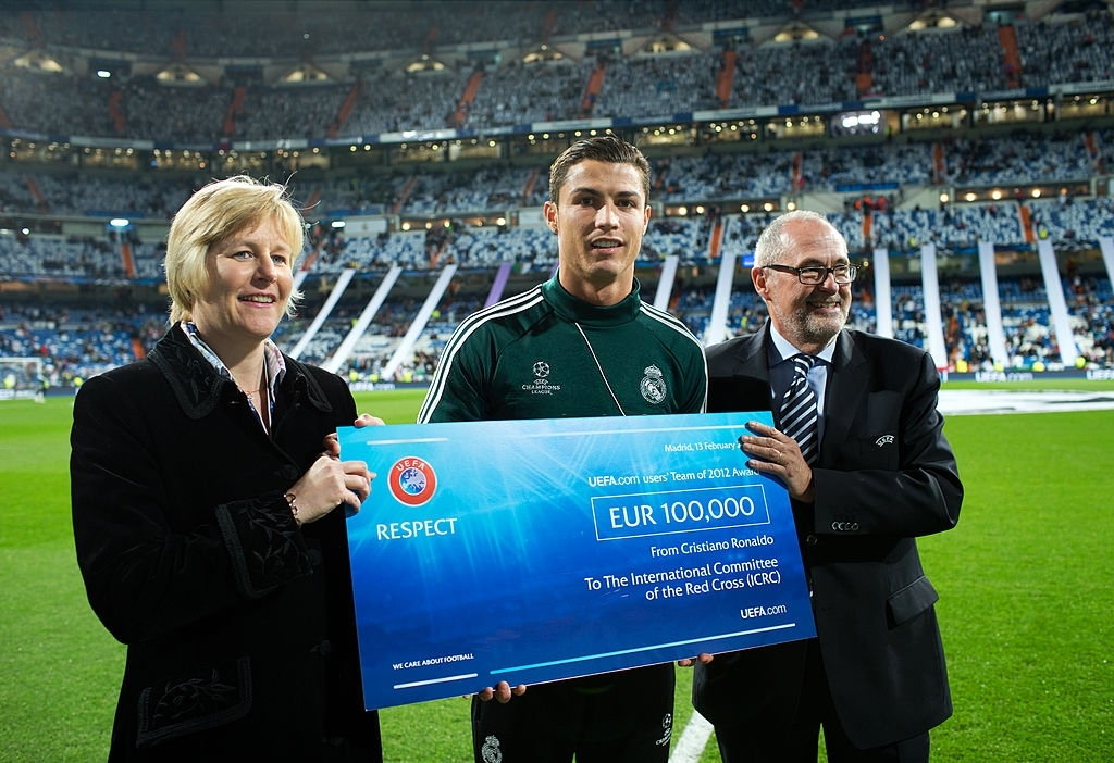 Cristiano Ronaldo donates to UNICEF, AIDS Still Required, Save the Children, and World Vision
