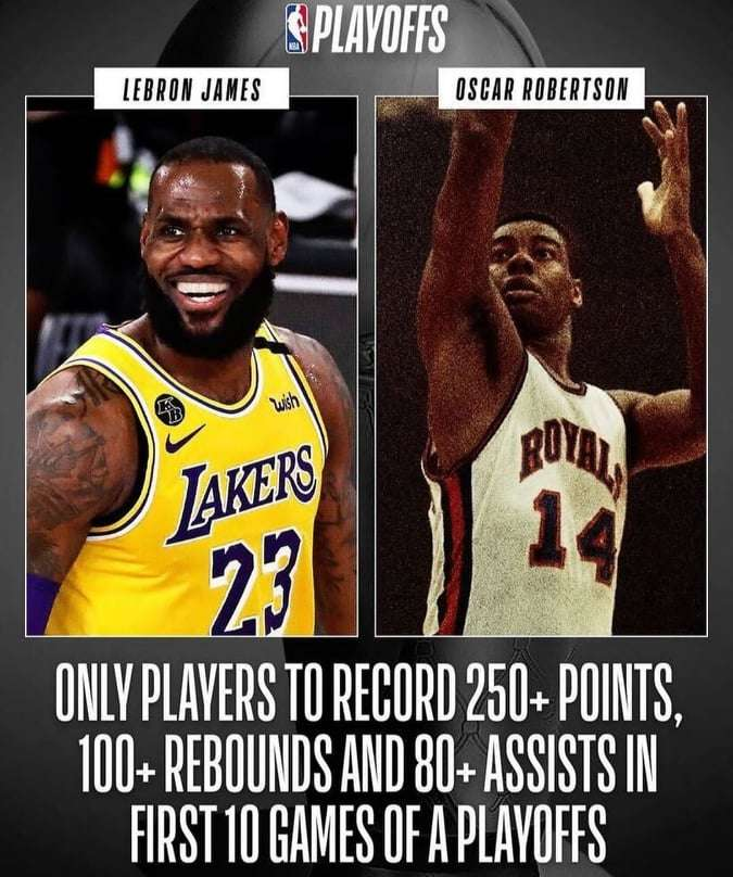LeBron James sets another playoff record