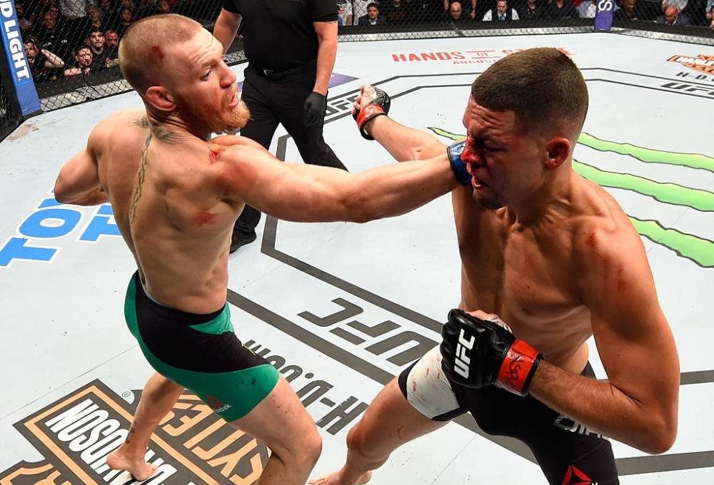 Conor McGregor beats Nate Diaz