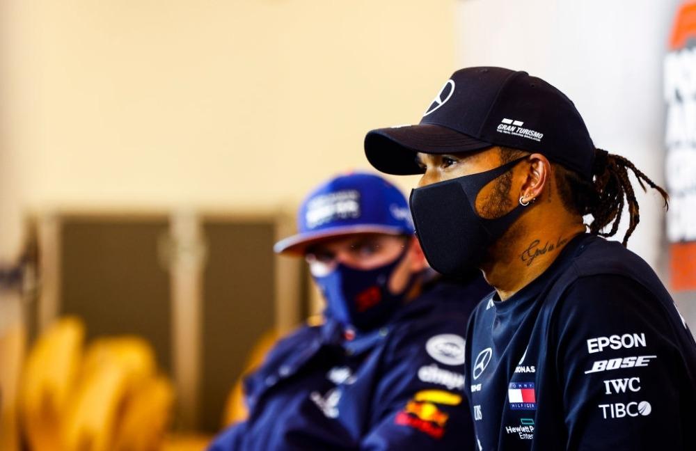 Lewis Hamilton in Alpha Tauri