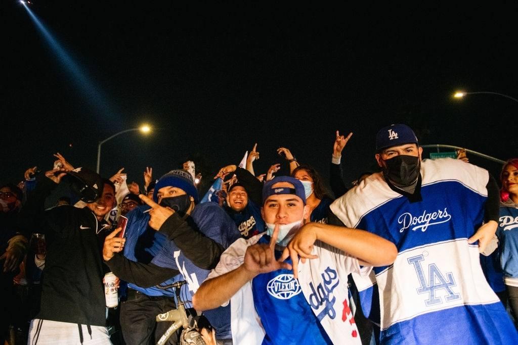 Dodgers fans celebration