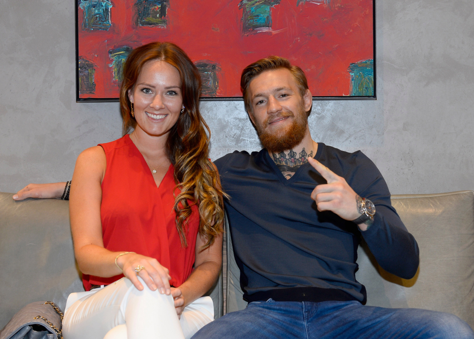Conor McGregor and his girlfriend Dee Devlin
