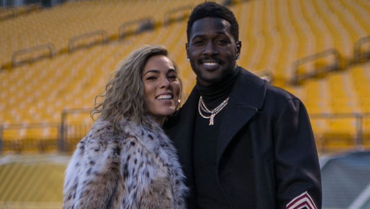 Antonio Brown with Chelsie Kyriss