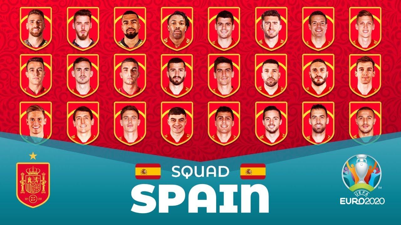 Team Spain Euro 2020