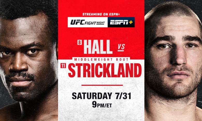 Uriah Hall vs Sean Strickland UFC Fight Night Free Live Reddit Streams