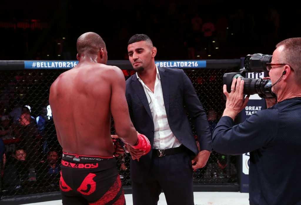Michael Page greets Douglas Lima