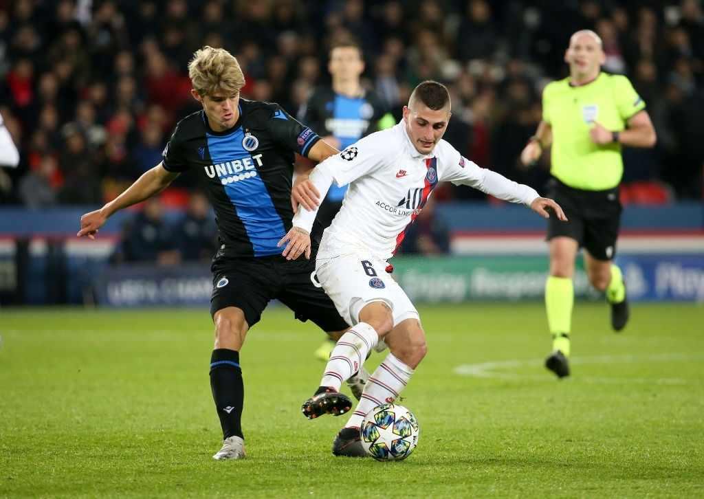 Marco Verrati Club Brugge vs PSG
