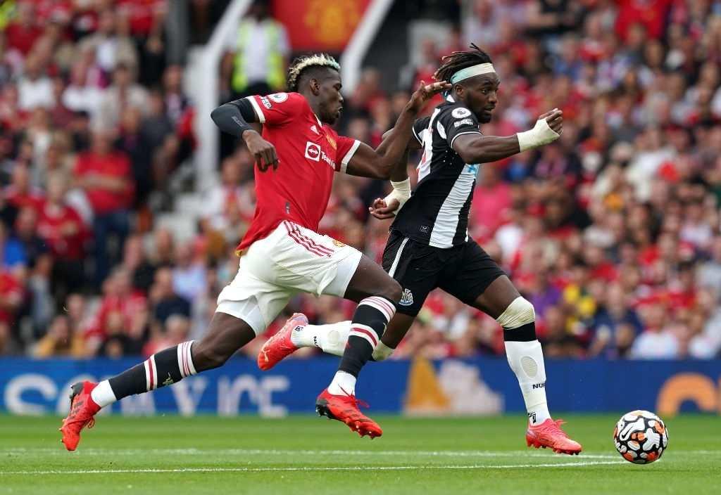 Allan Saint-Maximin Man United vs Newcastle