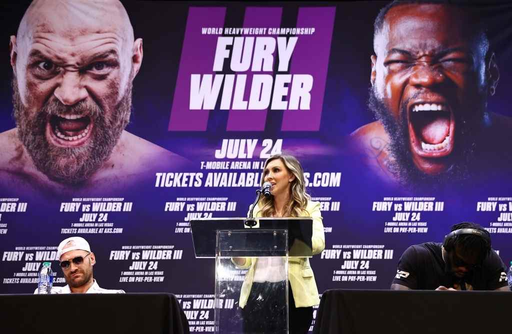 Tyson Fury and Deontay Wilder press conference