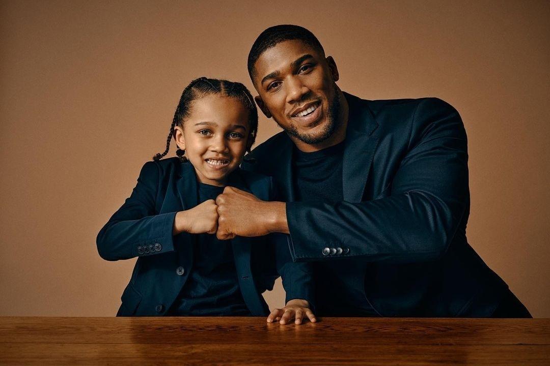 Anthony Joshua and Son.