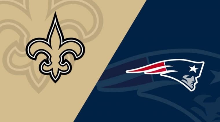 New England Patriots vs New Orleans Saints live