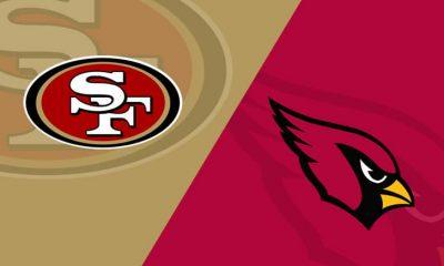 Arizona Cardinals vs San Francisco 49erslive