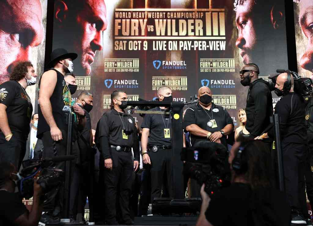 Tyson Fury vs Deontay Wilder 3 weigh-in results