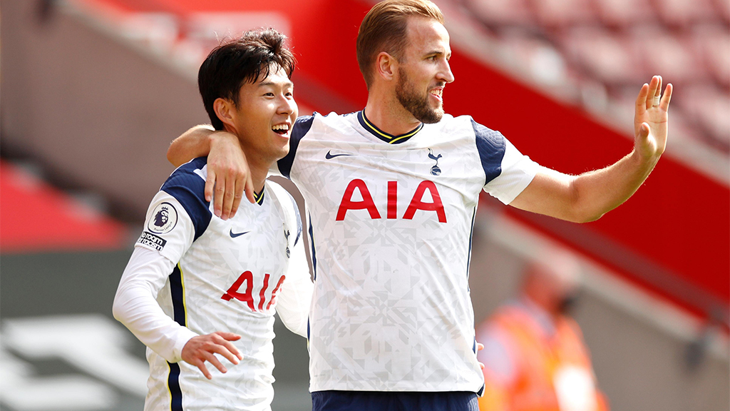 Harry Kane and Son Heung Min from tottenham Hotspur.